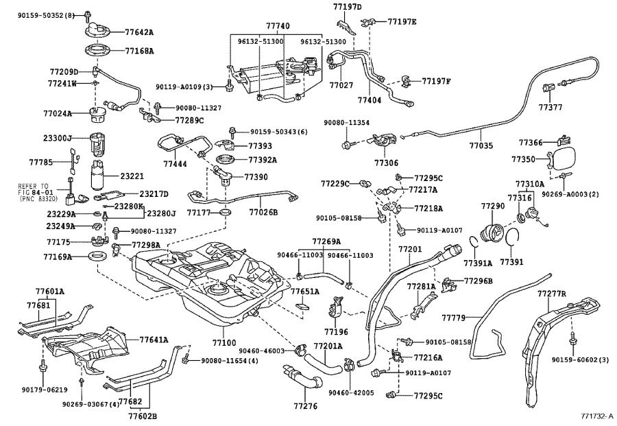 1996 Toyota Corolla Fuel Line Diagram