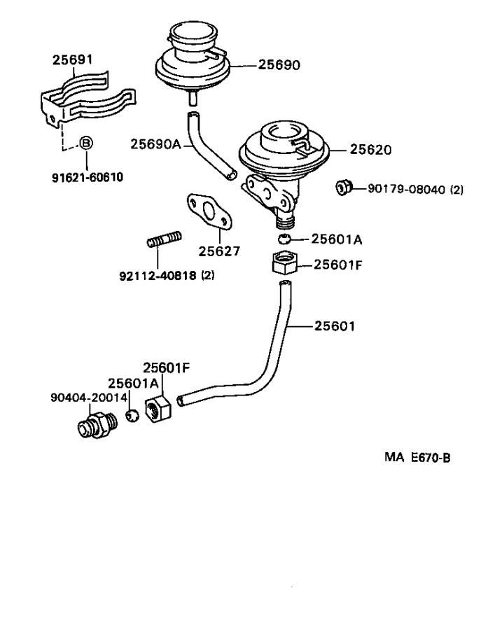 Toyota Camry Gasket  Egr Inlet  System  Fuel  Exhaust