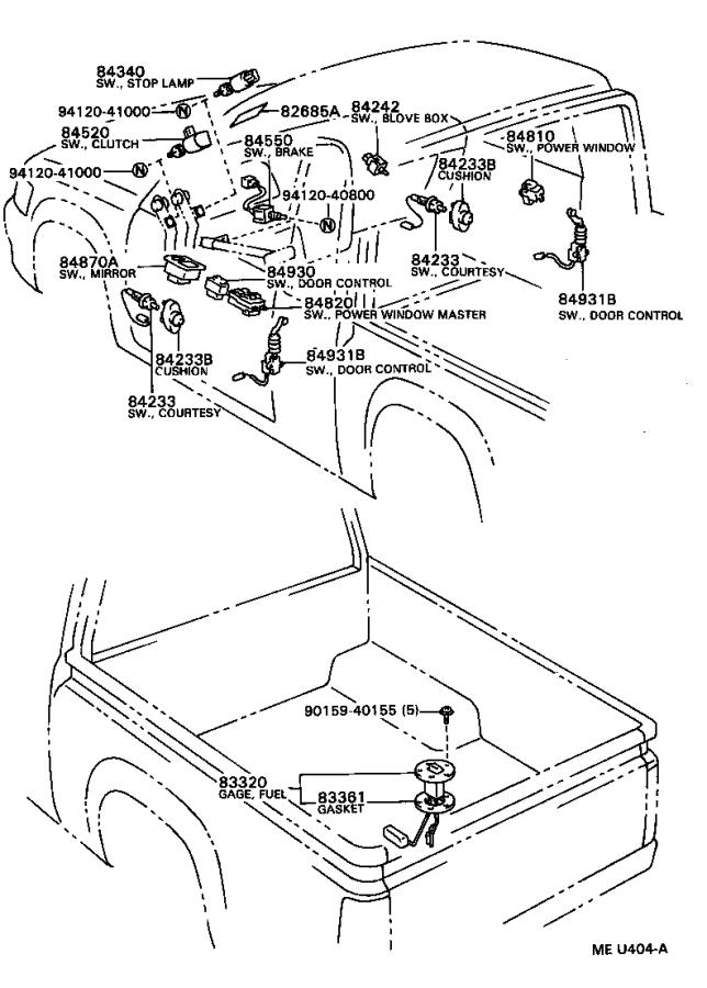 Toyota T100 Gasket  Oxygen Senso  Electrical  Exhaust